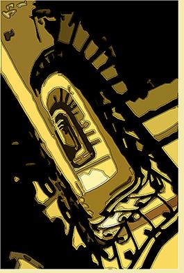 Escalera del Pasaje Barolo, Buenos Aires. Versión digital BHB