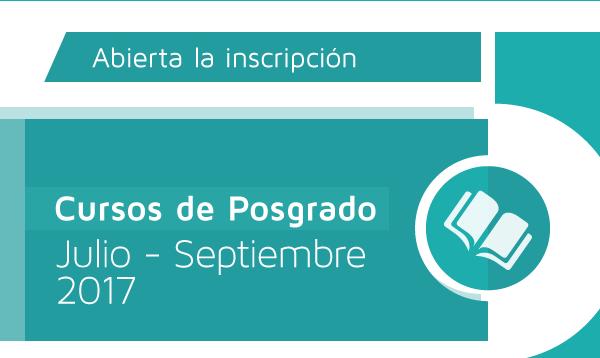 Cursos de Posgrado | Julio - Septiembre 2017