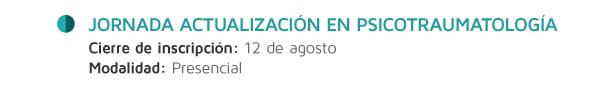 Jornada Actualización en Psicotraumatología